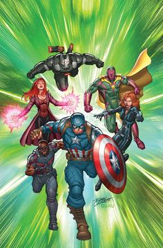 The Avengers by Ron Lim - not sure if I should post this on my MCU or just Marvel board...TO THE MCU IT GOES!! XD