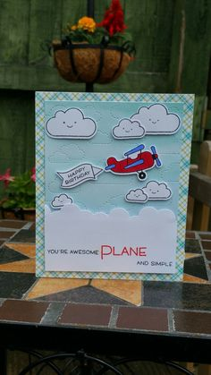 Lawn fawn plane and simple