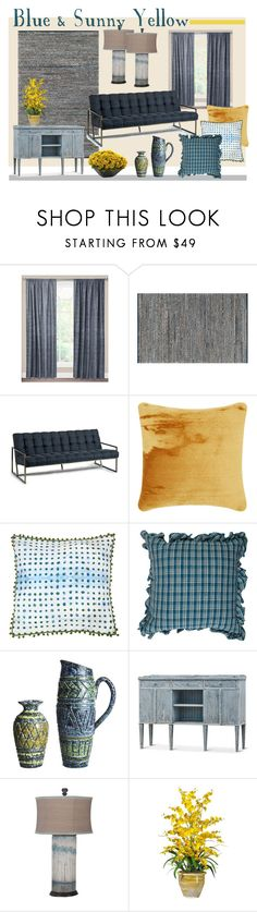 """Blue & Sunny Yellow"" by suziqleathers ❤ liked on Polyvore featuring interior, interiors, interior design, home, home decor, interior decorating, SIScovers, Safavieh, Regina Andrew Design and Tom Dixon"
