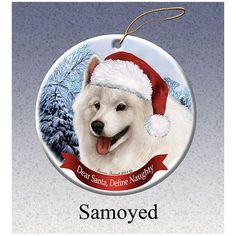 Samoyed Howliday Dog Christmas Ornament