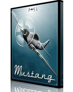 Share Squadron Posters for a 10% off coupon! P-51 Mustang #http://www.pinterest.com/squadronposters/