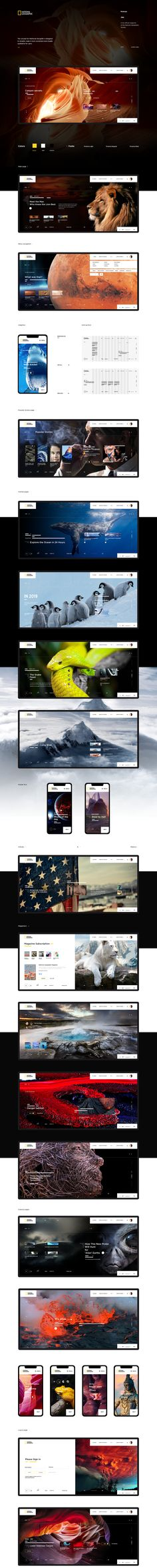 National Geographic - redesign concept on Behance