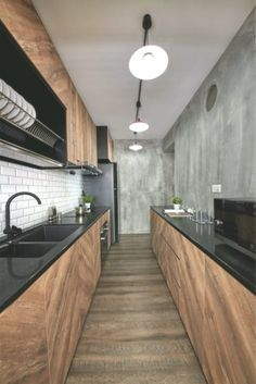 Here are the Black White Wood Kitchens Design Ideas. This post about Black White Wood Kitchens Design Ideas was posted Home Decor Kitchen, Interior Design Kitchen, Kitchen Designs, Interior Ideas, Kitchen Ideas, White Wood Kitchens, Luxury Kitchens, Modern Kitchens, Minimalist Kitchen