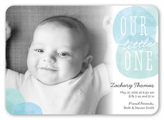Our Little One Boy 5x7 Stationery Card by Yours Truly | Shutterfly