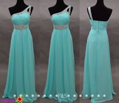 Tiffany Blue DressSexy Blue Evening Prom by FashionStreets on Etsy, $129.00