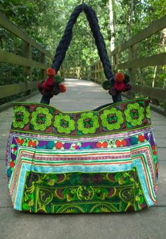 A personal favorite from my Etsy shop https://www.etsy.com/sg-en/listing/246161923/embroidery-bright-boho-hmong-tote-bag