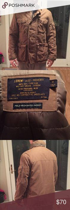 J-crew field mechanics jacket. Size M Barely used, great condition. Heavy material. No stains or marks. Immaculate condition J. Crew Jackets & Coats Military & Field