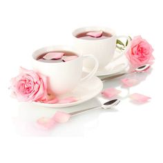 Tea_and_Roses_White_Background.jpg ❤ liked on Polyvore featuring drinks
