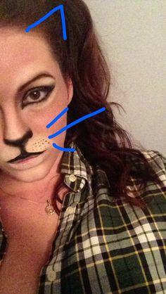 Cat makeup . Halloween makeup