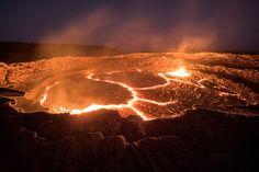 El volcán permanentemente activo de Erta Ale, Etiopía, uno de los seis lagos de lava del mundo (Karel Tupy, 2015)