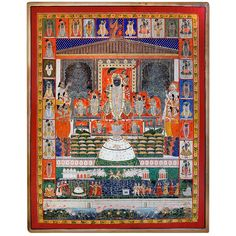 Pichwai Painting of Krishna Reincarnated as Shrinathji at Krishna Love, Lord Krishna, Pichwai Paintings, Indian Home Decor, Gods And Goddesses, Indian Art, Deities, Traditional Art, Wall Prints