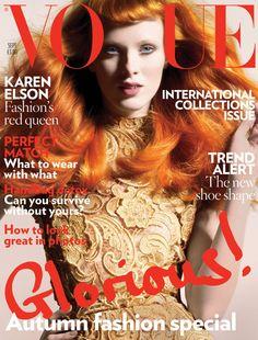 Karen Elson by Nick Knight Vogue UK September 2008