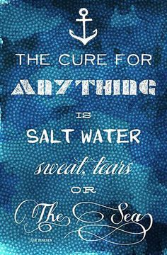 The Cure for Anything Quote Wall Art <3