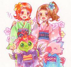 Sora and Mimi Manga Pictures, Cute Pictures, Fanart, Digimon Digital Monsters, Digimon Adventure Tri, Otaku, Anime Comics, My Childhood, All Art