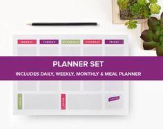 Day Planner Printable EDITABLE Daily от FreshandOrganized