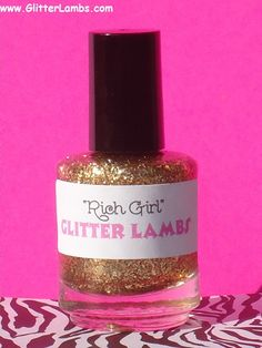 Glitter Nail Polish Rich Girl Custom Blended by GlitterLambsPolish, $9.00