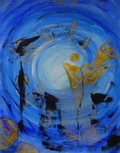 Licht und Schatten Abstrakte Kunst auf Acrylpapier, handgemaltes Original von Susannes Kreativ-Lädchen auf DaWanda.com