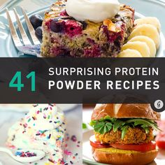 Protein powder isn't only for shakes—it can also be used to make a variety of dishes, from muffins and cupcakes to burgers and lasagna to dips and doughnuts—and more!