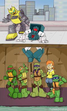 Transformers meets Teenage Mutant Ninja Turtles!!! <3
