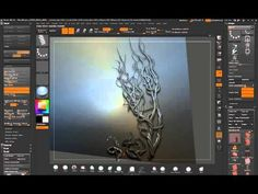 ZBrush - creating vines using Rope Insert Mesh Brush