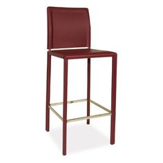 Moe's Home Collection Stallo Bar Stool - Dark Red | from hayneedle.com