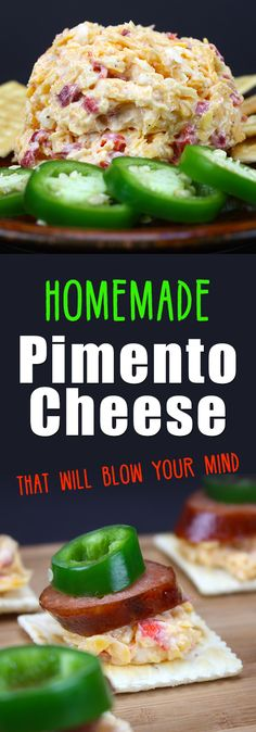 Homemade Pimento Cheese - This stuff is amazing! So easy to make and 100 times…