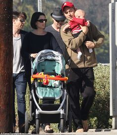 Neve Campbell and family