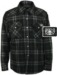Mens Black Plaid Wool Flannel Button Up Greaser Wear Jacket Pinchmeclothing.com