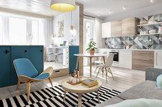 Interior TR – это уютный интерьер однокомнатной квартиры от студии INT2 Architecture в Москве, Россия