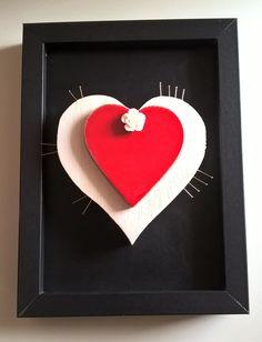 Quadretto decorativo decorazione cuore Suffering Love di Manoico su Etsy