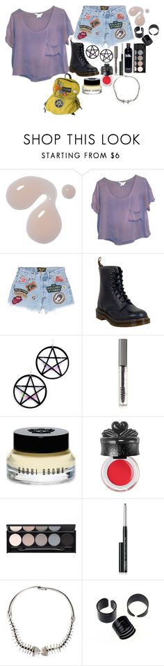 """""""No shes a fat girl"""" by bree-russell ❤ liked on Polyvore featuring BCBGeneration, MadeWorn, Dr. Martens, Marina Fini, BBrowBar, Bobbi Brown Cosmetics, Anna Sui, Witchery, Clinique and Antonio Pineda"""
