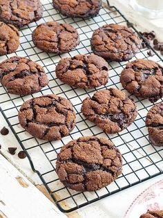 Gluten Free Flourless Chocolate Ginger Cookies