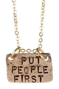 People First Necklace by Alisa Michelle on @HauteLook