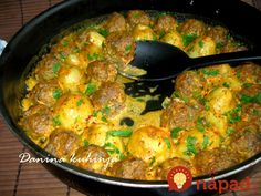 Recepti i Ideje Croatian Recipes, Paella, Ham, Minis, Food To Make, Curry, Good Food, Food And Drink, Lunch