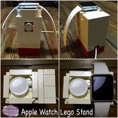 Apple Watch Lego Dock. MotherDaughterProjects.com