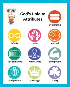 Classroom Posters - The Attributes of God for Kids Sunday School Activities, Sunday School Crafts, Bible Lessons, Lessons For Kids, Raising Godly Children, Children Ministry, Bible Study For Kids, Kids Bible, Kids Church
