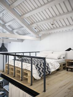 Un loft con dormitorio en altillo y vestidor debajo · An amazing lofted bed with walk in closet underneath