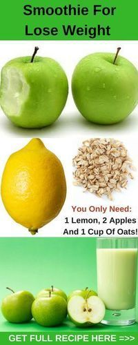 Use This Amazing And Simple Smoothie And Lose Kilograms Effectively! You Only Need 1 Lemon, 2 Apples And 1 Cup Of Oats!