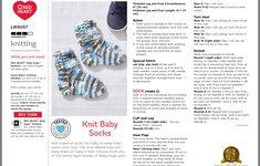Baby Knitting Patterns, Baby Patterns, Sts 1, Slipper Socks, Slippers, Baby Socks, Baby Booties, Free Pattern, Knit Crochet