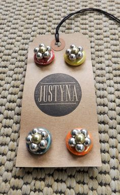 Set of 4 Beaded Magnets by justynainteriors on Etsy