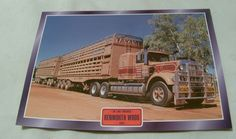Kenworth W900 1975 Road Train cattle Truck  ITEM Delightful photograph quality picture that will be supplied framed for a very affordable price these images are from the Atlas Editions Trucks