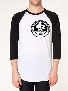 Beagle Freedom Project Unisex Poly-Cotton 3/4 Sleeve Raglan Shirt - BFP FTLA Apparel
