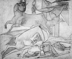 Early Studies for guernica 1937- Picasso: