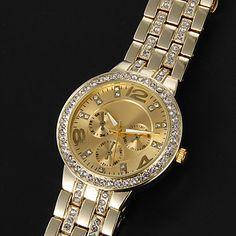 EUR € 13.72 - [XmasSale]vrouwen horloge mode diamante luxe gouden wijzerplaat, Gratis Verzending voor alle Gadgets!