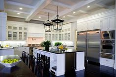 "the large cornice hanging lantern in ""real life"" - love the oversized look.  via circalighting.com"