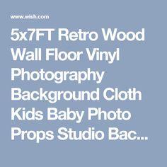 5x7FT Retro Wood Wall Floor Vinyl Photography Background Cloth Kids Baby Photo Props Studio Backdrop