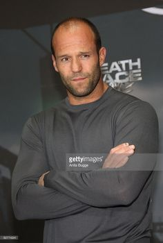Actor Jason Statham attends a photocall for 'Death Race' on September 11, 2008 in Berlin, Germany.