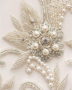 Intricate beading #couture #couturegown #couturebridal #bridaldesigner #suzanneneville #london #london #beading #detail