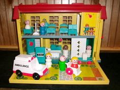 vintange fisher price hospital. my favorite toy i can remember having. fitting im a nurse i guess