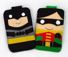 Hero collection Robin Batman Handmade felt phone case iphone, samsung, Htc, Mac book, ipad, ipad mini felt phone case (FREE SHIPPING)